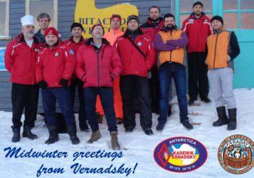 Вітання від Національного антарктичного наукового центру з Мідвінтером