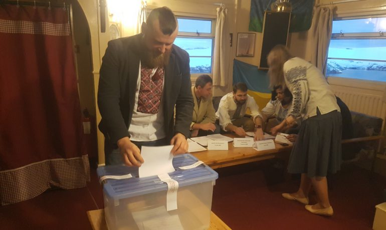 The second round of the presidential elections in Ukraine. Voting at the Akademik Vernadsky station has finished