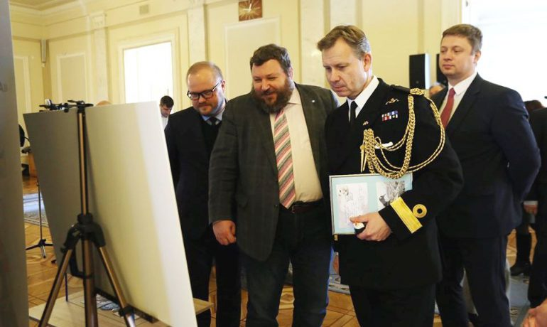 A Photo exhibition was opened in the Verkhovna Rada to celebrate the anniversary of Akademik Vernadsky station
