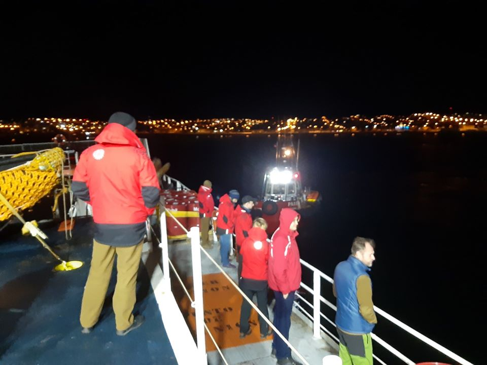 The 25th UAE departed from Chile to Antarctica. The journey will take at least 5 days