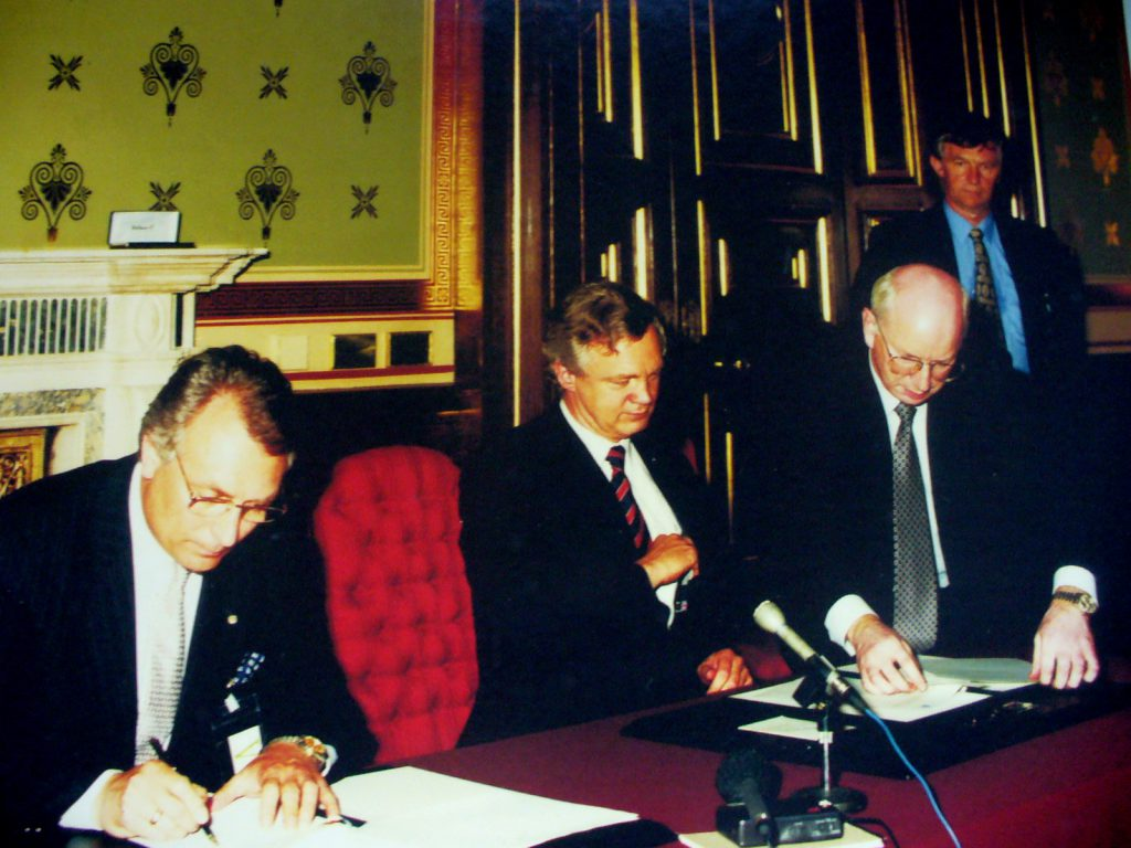 The beginning of the history. A memorandum on the transfer of the British station to Ukraine was signed 25 years ago
