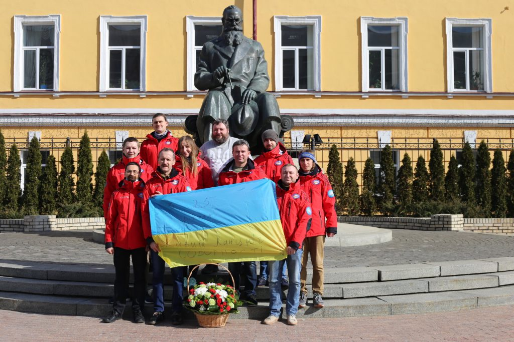 Members of the 26th Ukrainian Antarctic Expedition